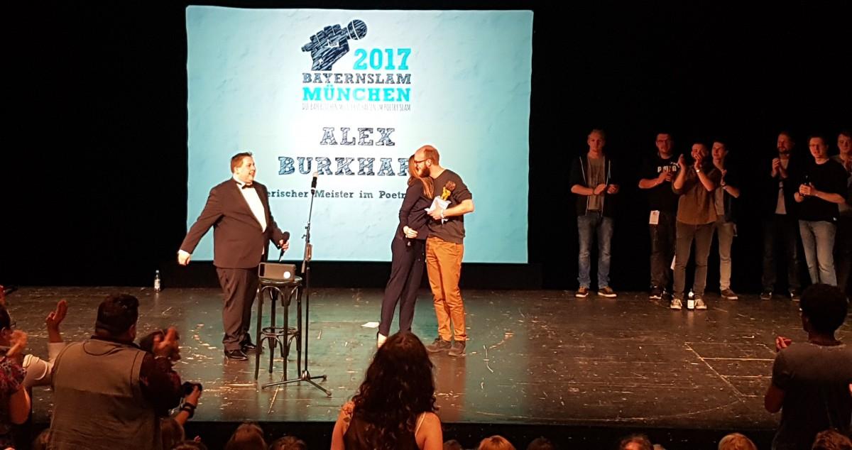 Siegerehrung zum bayrischen Meister im Poetry Slam 2017 im Volkstheater in München