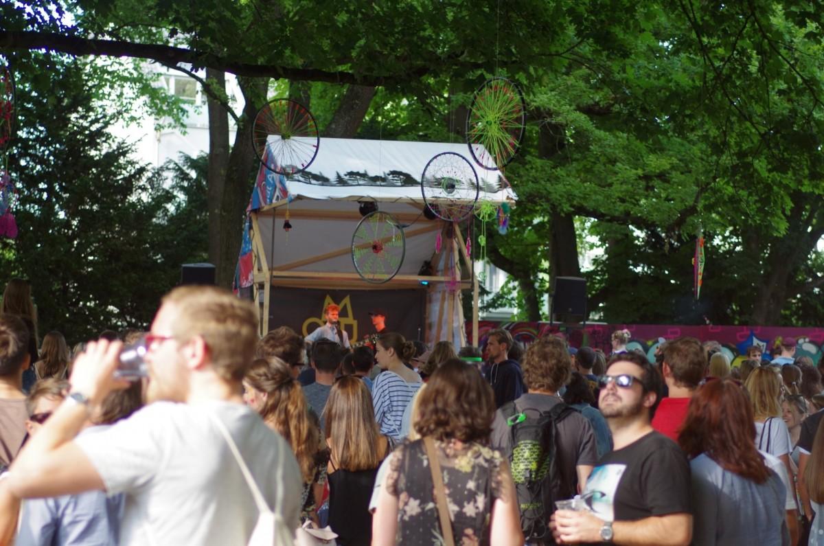 Die kleinste Festivalbühne ever... (Waldbühne)