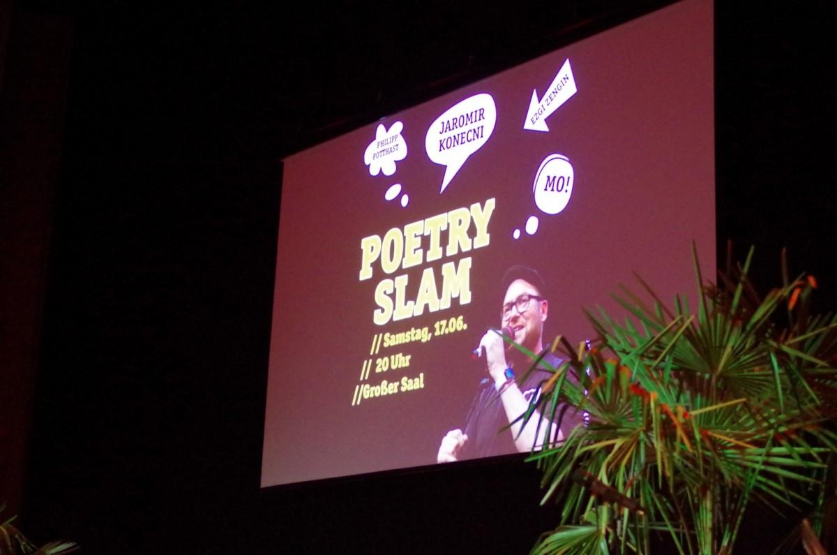 Poetry Slam gab es auch...