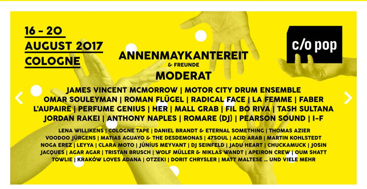 Vorbericht: c/o pop Festival